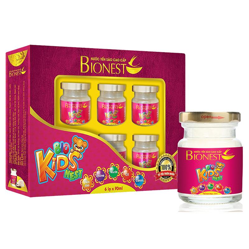 Bộ 2 hộp Yến sào Bionest Kids cao cấp - Quà tặng cho bé biếng ăn 6 lọ