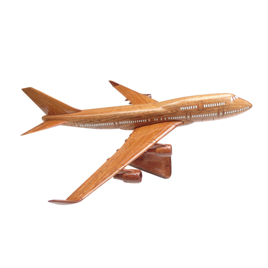 Mô hình máy bay gỗ Boeing B747 - Size Lớn