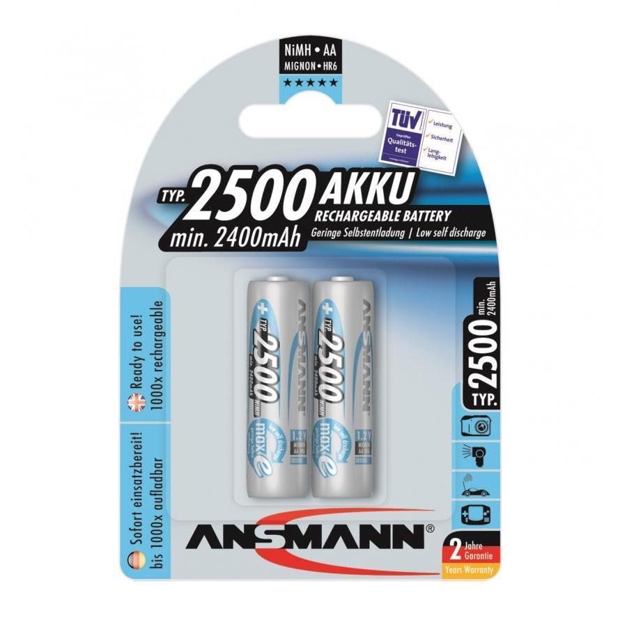 Bộ 2 Pin Sạc AA 2500 ANSMANN