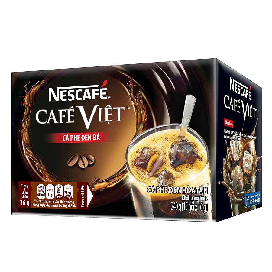 Hộp 15 Gói Nescafé Việt - Cà Phê Đen Đá (16g)