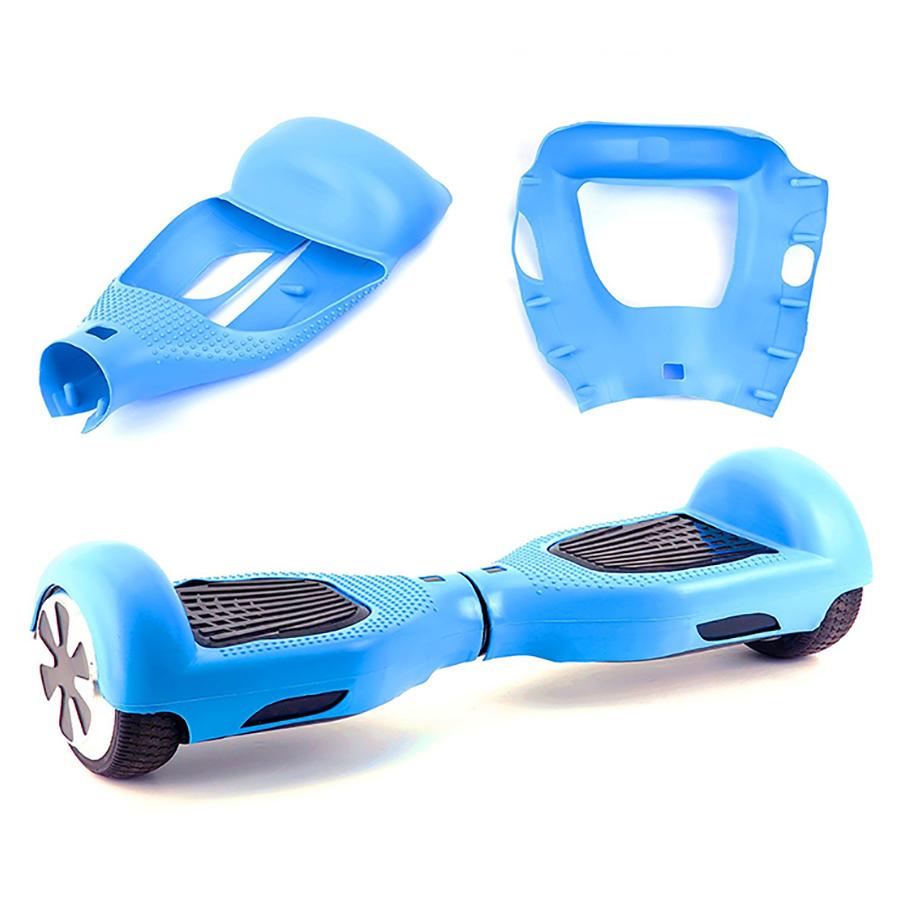 Combo Xe Tự Cân Bằng Smart D Black Và Vỏ Bọc Bảo Vệ Silicone Blue Riposte CB.SILICON.DBKBL