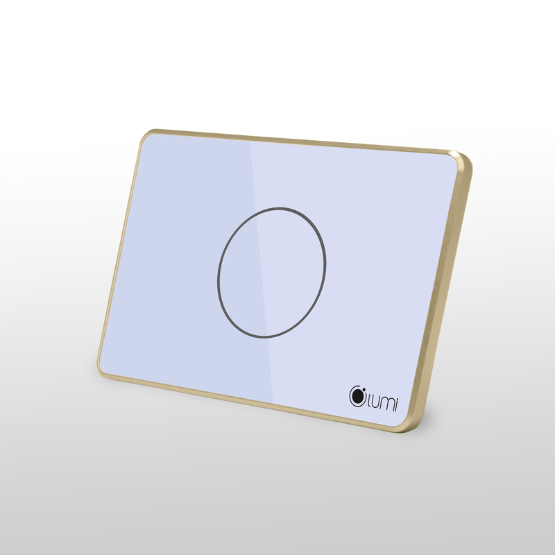 Công tắc thông minh  Lumi 1 nút chữ nhật viền nhôm - LM-S1 CN