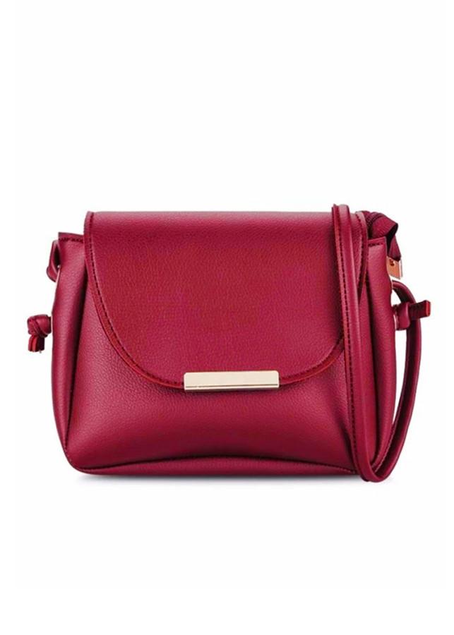Túi đeo chéo cho nữ simili đơn giản Đỏ