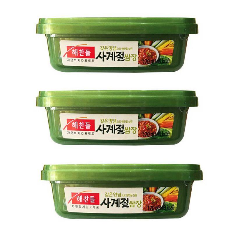 Combo 3 Hộp Tương Trộn Ssamjang Ăn Liền Hàn Quốc CJ (170g/ Hộp)