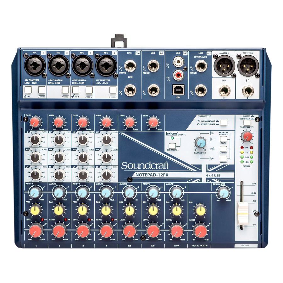 Bộ Trộn Âm Thanh Soundcraft NOTEPAD 12FX