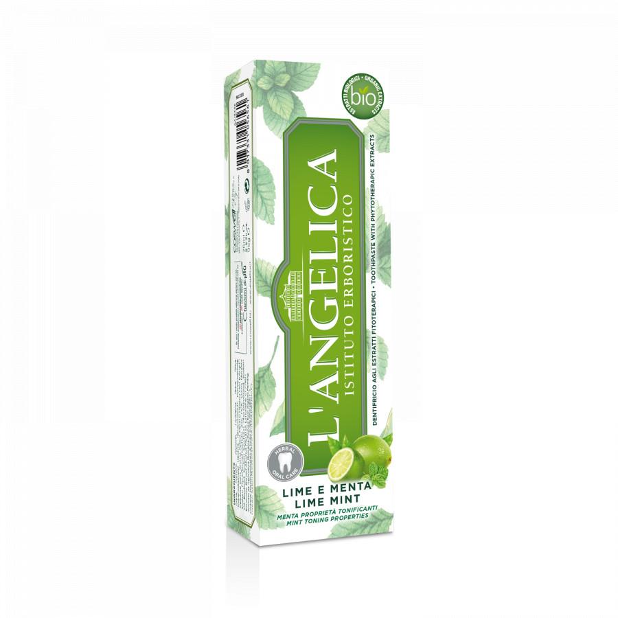 Kem Đánh Răng L'Angelica Toothpaste - Mint and Lime - Bạc Hà và Chanh