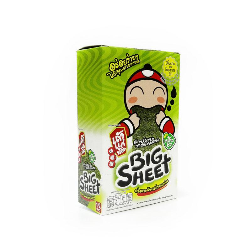 Hộp 12 gói Snack rong biển Tao Kae Noi Big Sheet vị truyền thống (4g/gói)