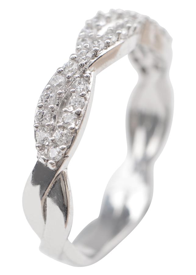 Nhẫn Đai Xoắn Gix Jewelry GR019 - Trắng