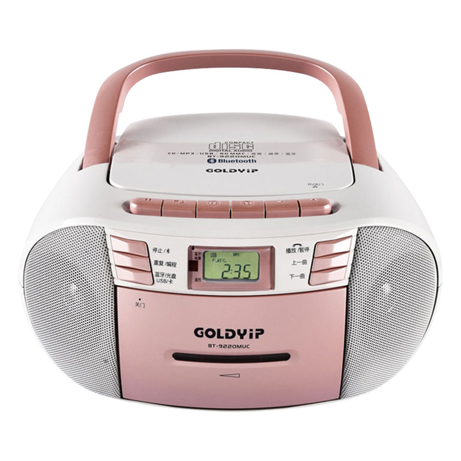 Máy Học Ngoại Ngữ Goldyip BT- 9220 MUC (Bluetooth) (Trắng Hồng) - Hàng Chính Hãng