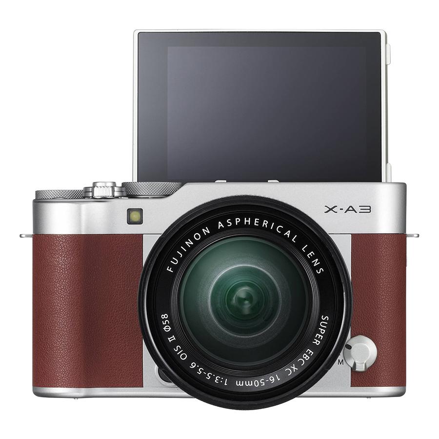 Máy Ảnh Fujifilm X-A3 Kit XC16-50mm f3.5-5.6 OIS (Nâu) + Thẻ Nhớ Sandisk 16GB Tốc Độ 48MB/s + Túi Đựng Máy Ảnh Fujifilm