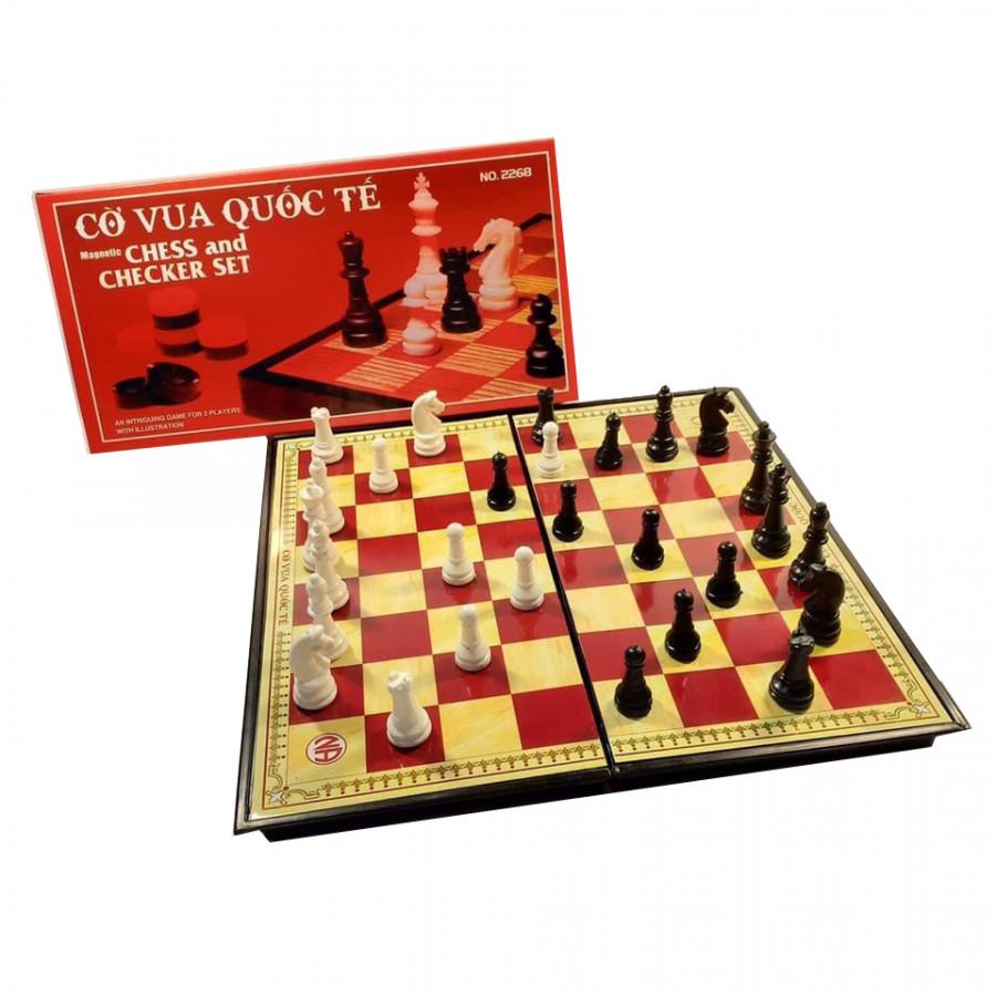 Bộ cờ vua nam châm 36cm x 36cm hộp đỏ