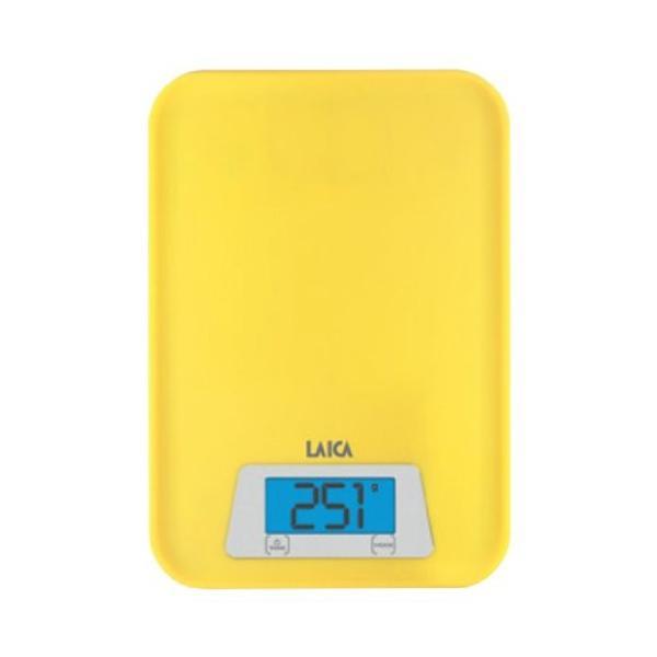 Cân dinh dưỡng nhà bếp đo Trọng lượng và Thể tích nước - LAICA KS1023 - Vàng Chanh ITALY