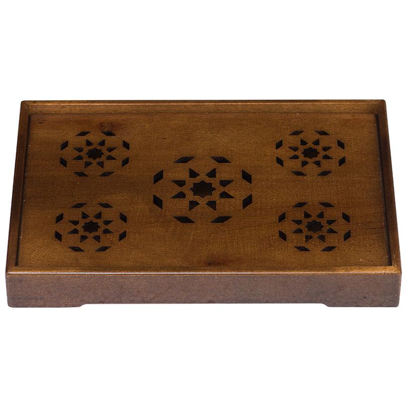 Khay trà gỗ Nhatvywood WT02-A Màu nâu đen