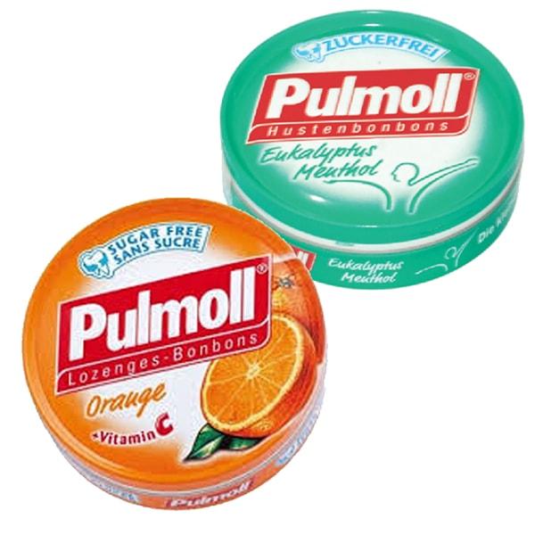 Combo 2 Hộp Kẹo Pulmoll Eukalyptus Menthol (50g) + Orange Pastilen - Vitamin C Vị Cam (50g)