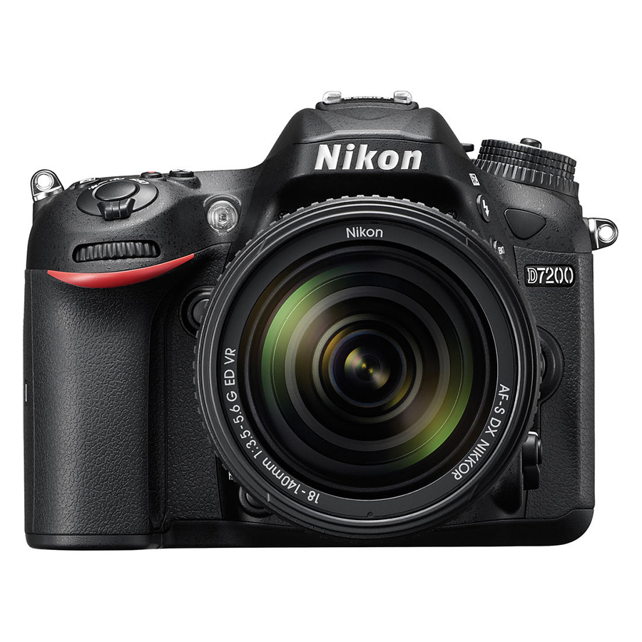 Máy Ảnh Nikon D7200 Kit 18 - 140mm VR (24.2 MP) (Hàng Chính Hãng) - Tặng Thẻ 16G + Túi Máy + Tấm Dán LCD