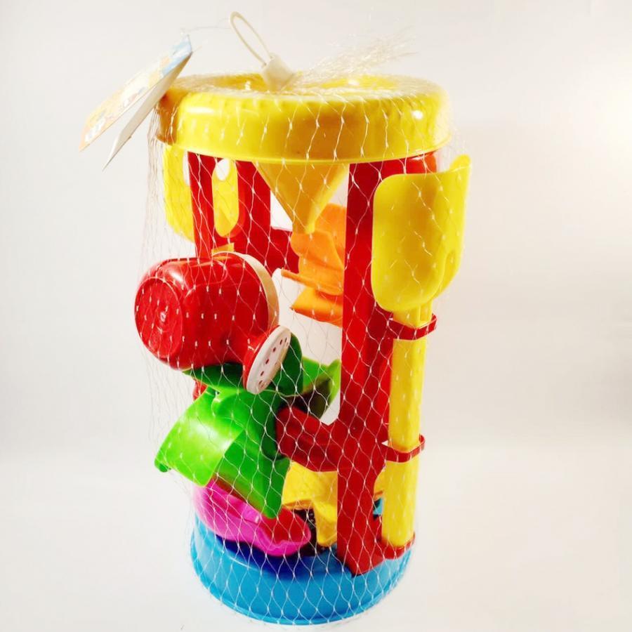 Bộ đồ chơi xúc cát cỡ to 6 chi tiết có guồng quay