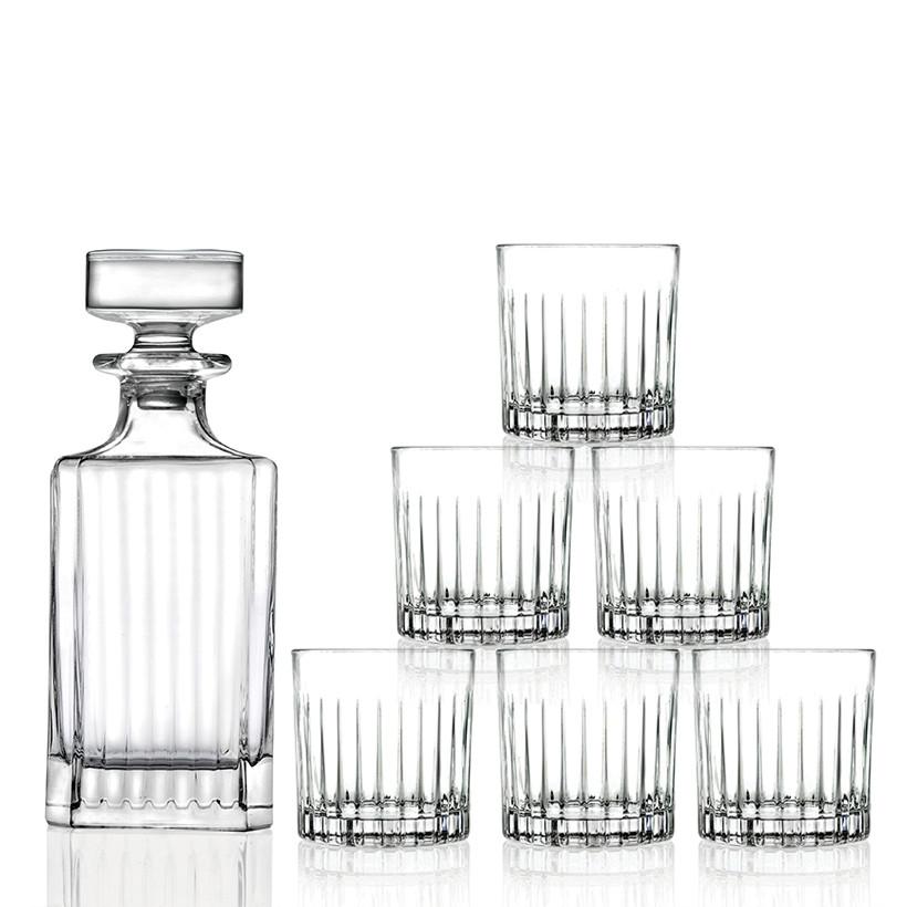 Bộ bình và 6 ly whisky pha lê RCR Crystal Timesless