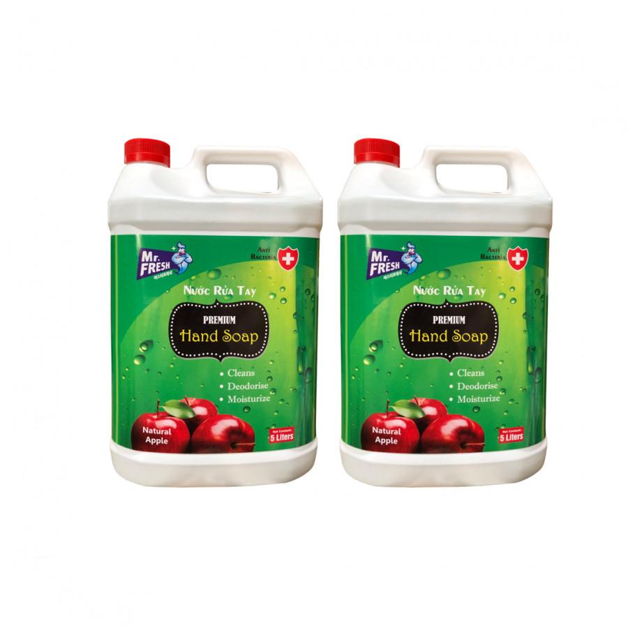 Combo 2 Can Nước rửa tay khử mùi Mr.Fresh 5L Hương Táo
