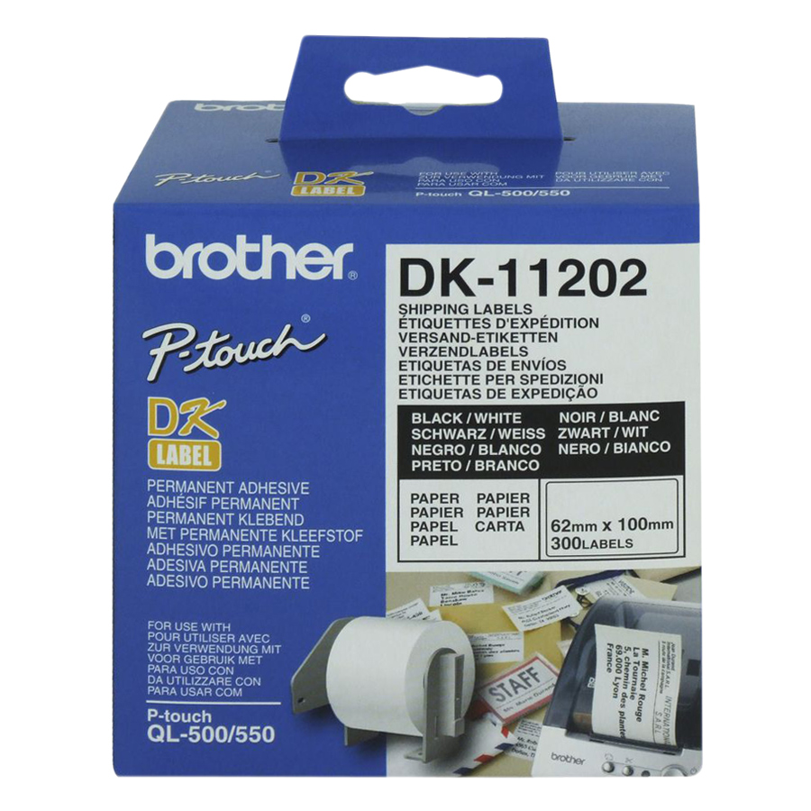 Giấy In Nhãn Bế Brother DK-11202 300 Nhãn (62mm x 100mm)