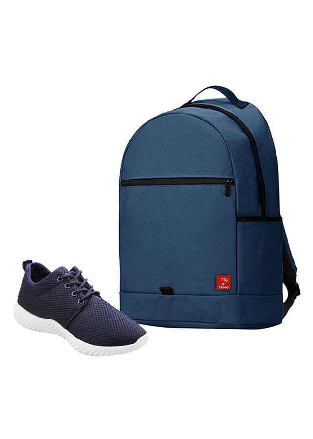 Combo Balo Glado Classical BLL006BU - Xanh Đen + Giày Sneaker GS062BU - Xanh Đen