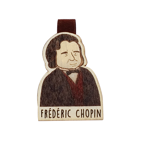 Bookmark gỗ nam châm Frédéric Chopin