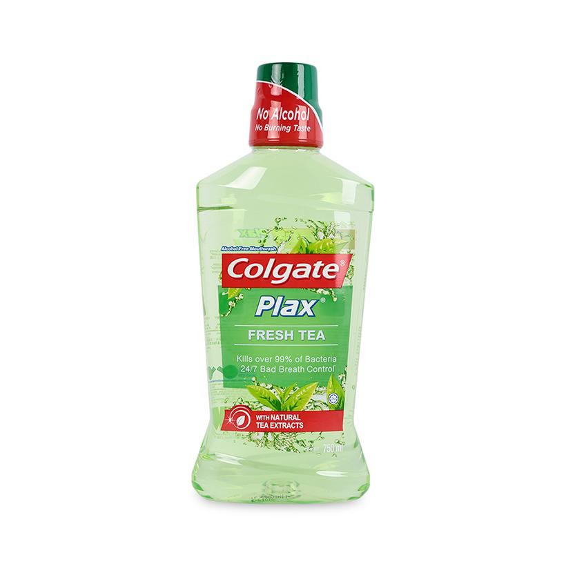 Nước Súc Miệng Colgate Plax trà xanh mát lạnh 750ml không chứa cồn