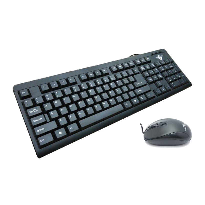 Bộ bàn phím và chuột máy tính có dây Warship GK1000 tặng lót chuột