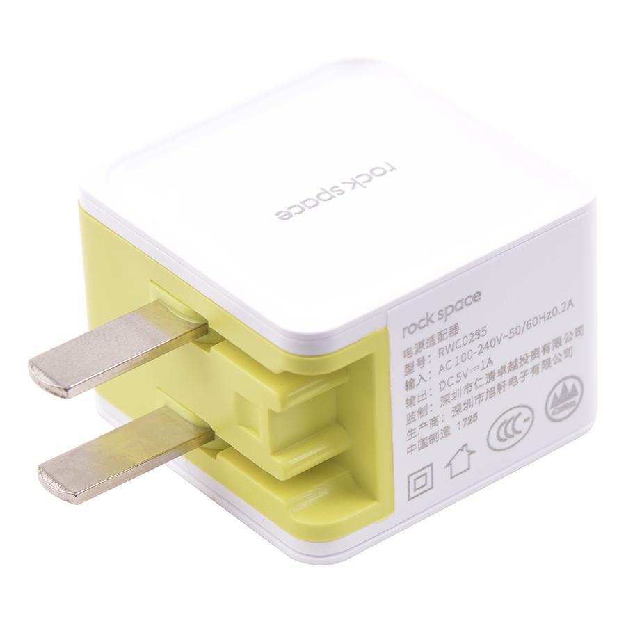 Adapter Sạc Cổng USB Rock Suger 1A 1 RWC0235