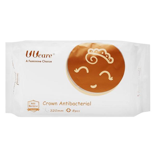 Băng Vệ Sinh Uucare Crown Antibacterial Ban Đêm (320mm)