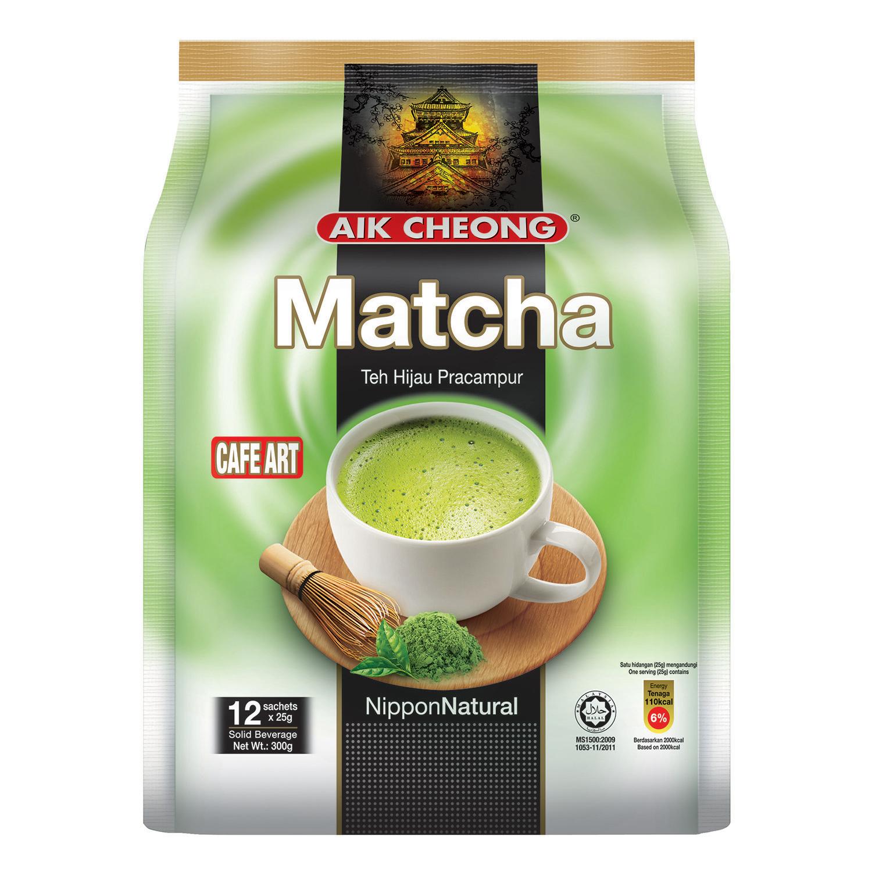 Trà Sữa Vị Trà Xanh Aik Cheong Matcha Café Art (12 Gói x 25g)