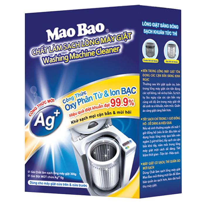 Chất Làm Sạch Lồng Giặt Mao Bao Ion Bạc Nâng Cấp Mới 300g + 6g