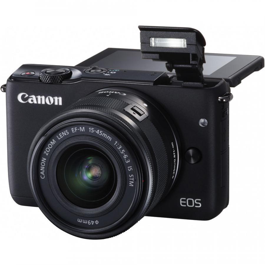 Máy Ảnh Canon EOS M10 + Kit 15-45 mm (Đen)