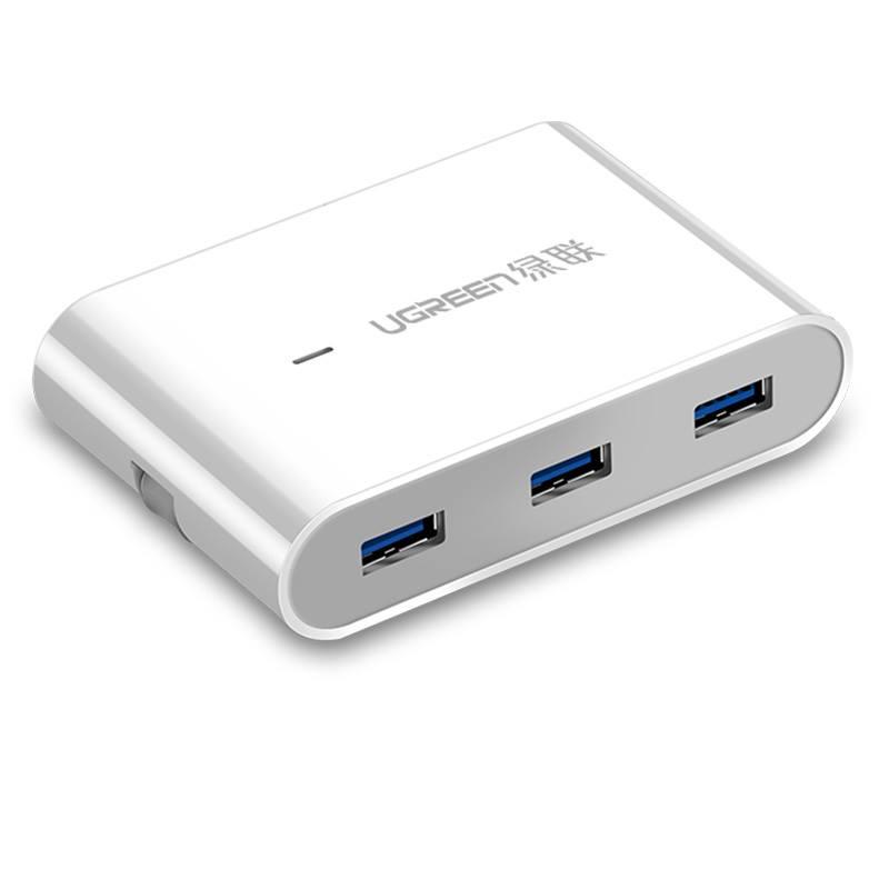 Hub USB 3.0 3 Cổng Kèm cổng mạng Lan RJ45 tốc độ 100Mps cao cấp Ugreen 30280 - Hàng Chính Hãng