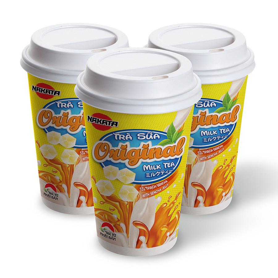 Lốc 3 Ly Trà Sữa Original Có Thạch Hiệu Nakata
