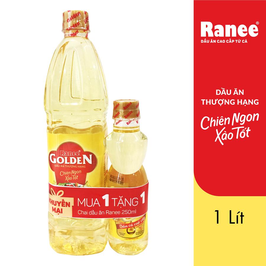 Dầu Ăn Cao Cấp Ranee Golden (1L) Tặng 1 Chai Ranee (250ml)