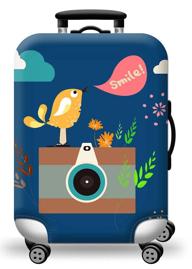 Túi bọc bảo vệ vali -Áo vỏ bọc vali - Chim và máy ảnh