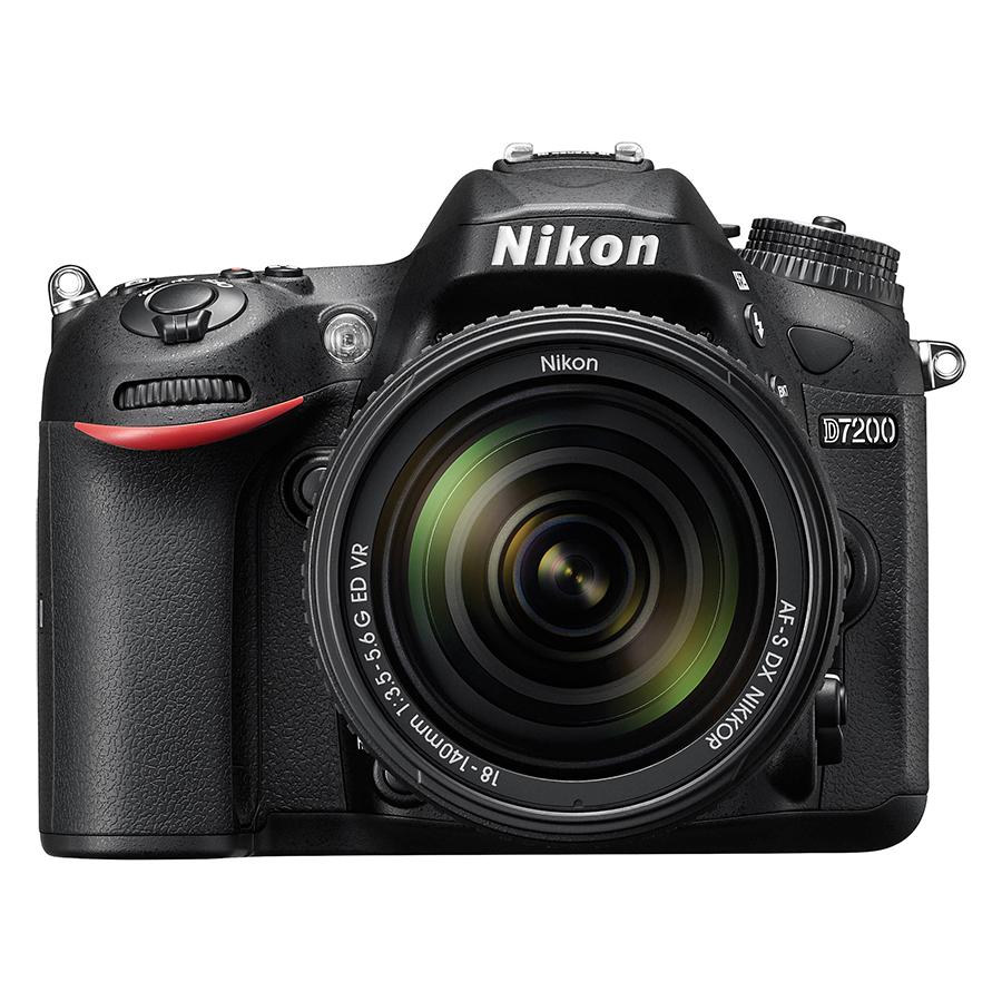 Máy Ảnh Nikon D7200 24.2MP Với Lens Kit 18-140mm VR (Đen) - Hàng Nhập Khẩu