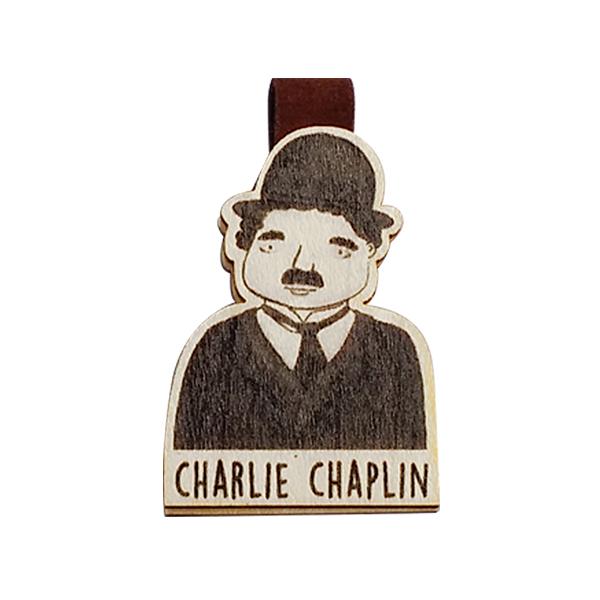 Bookmark gỗ nam châm Charlie Chaplin