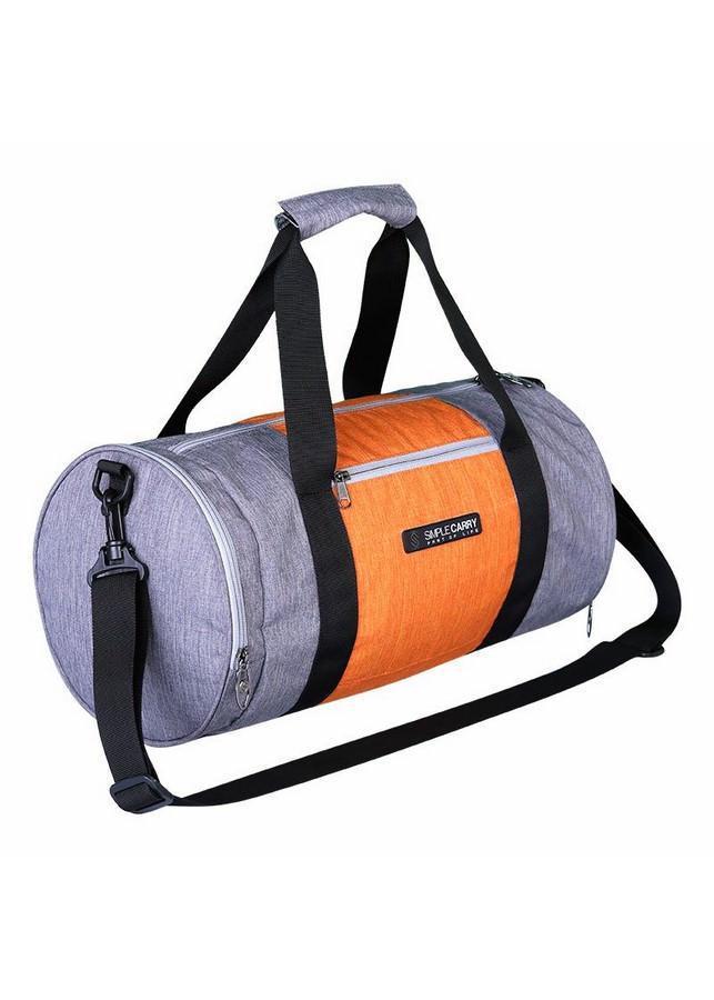 Túi Trống Simplecarry Gym Bag (23 x 42cm) - Grey/Orange