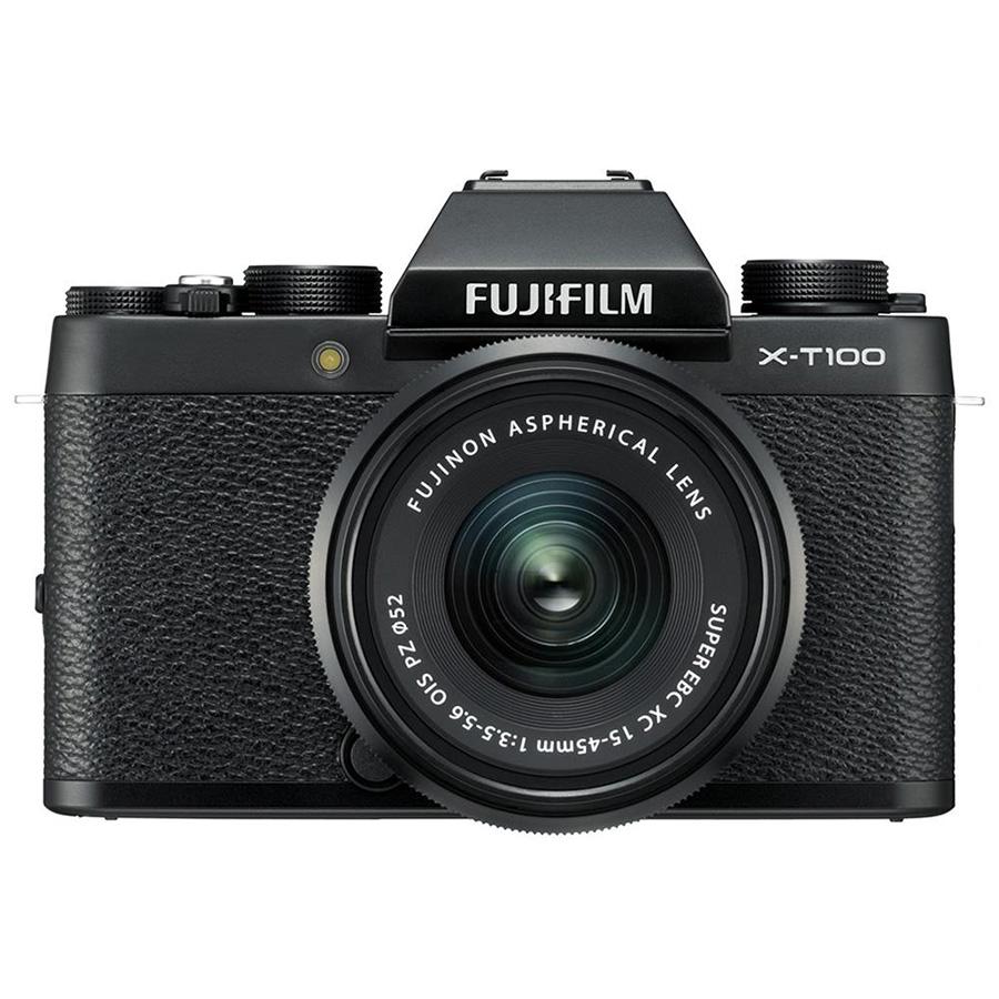 Máy Ảnh Fujifilm X-T100 Kit XC15-45mm f3.5-5.6 OIS (Đen) + Thẻ Nhớ Sandisk 16GB Tốc Độ 48MB/s + Túi Đựng Máy Ảnh Fujifilm