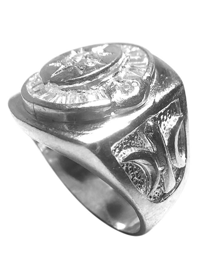 Nhẫn Nam Bạc 925 Đính Đá NA52 - Trắng