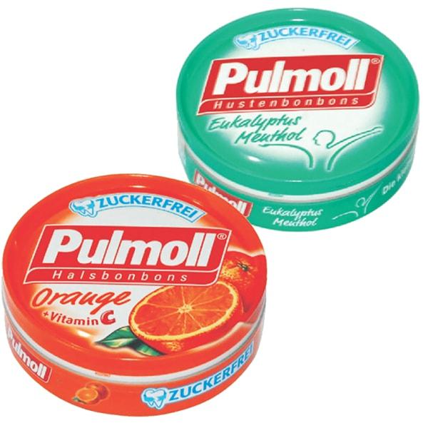 Combo 2 Hộp Kẹo Pulmoll Eukalyptus Menthol (50g) + Orange (50g)