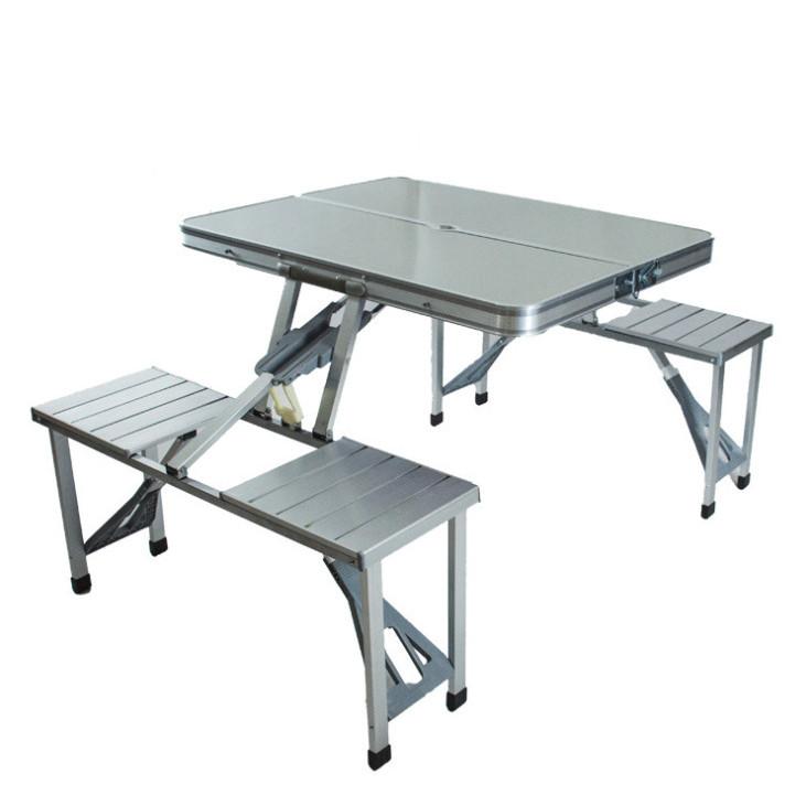 Bộ bàn ăn xếp gọn du lịch 4 người nhôm cao cấp siêu nhẹ JS01