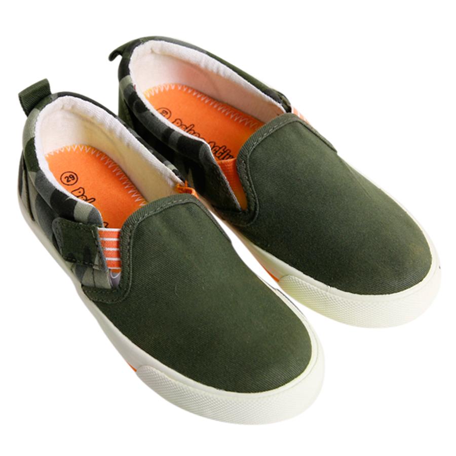 Giày Sllip On Bé Trai DA B1601 - Kaki