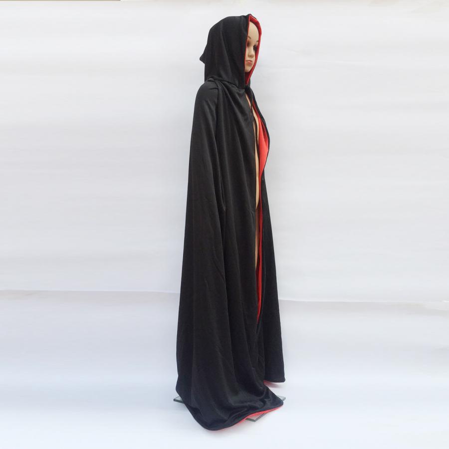 Áo choàng ma cà rồng đỏ đen hóa trang Halloween cho bé từ 7 tuổi trở lên