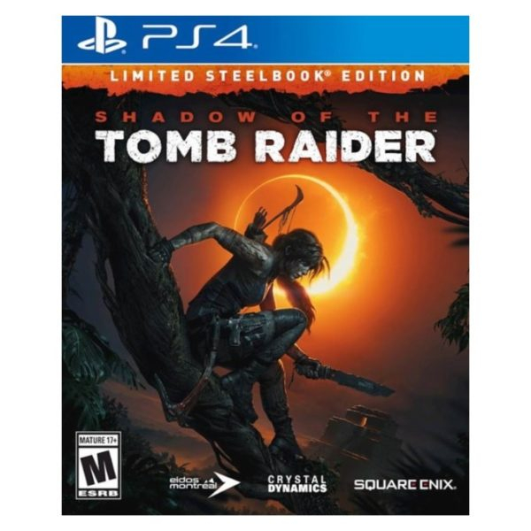 Đĩa Game PlayStation PS4 Sony Shadow Of The Tomb Raider  Limited Steelbook Edition Hệ Asia