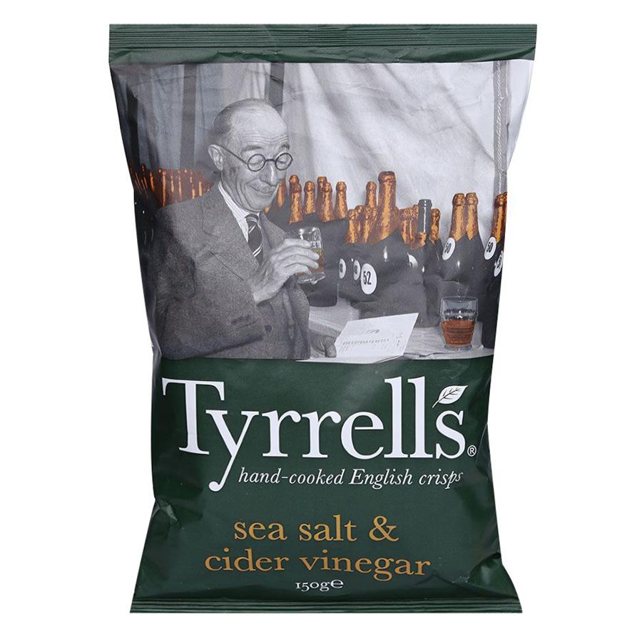 Khoai Tây Chiên Tyrrells Sea Salted Cider Vinegar Hand Cooked Crips (40g)