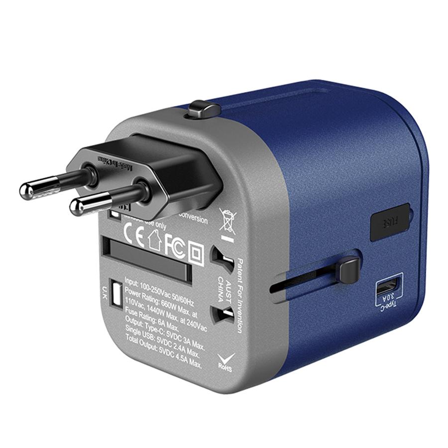 Adapter Sạc Du Lịch Đa Năng Joyroom JR-166C