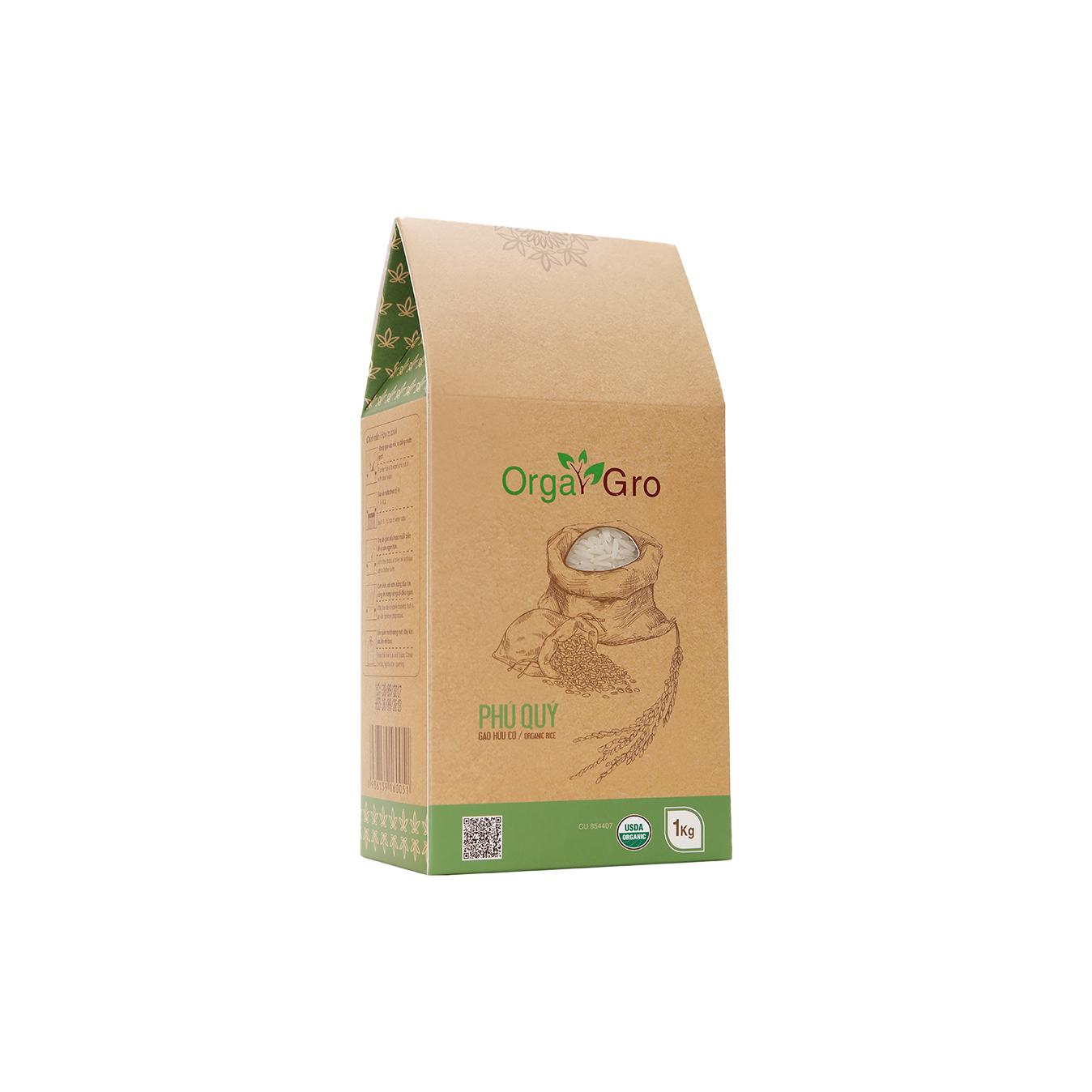 Gạo hữu cơ Phú quý OrgaGro 1kg