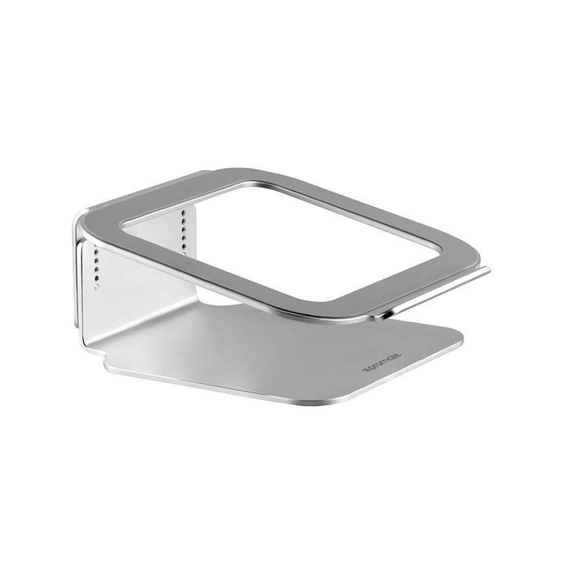 Giá đỡ Laptop Promate DeskMate-2 AluMinium đế xoay 360 Độ - Bạc